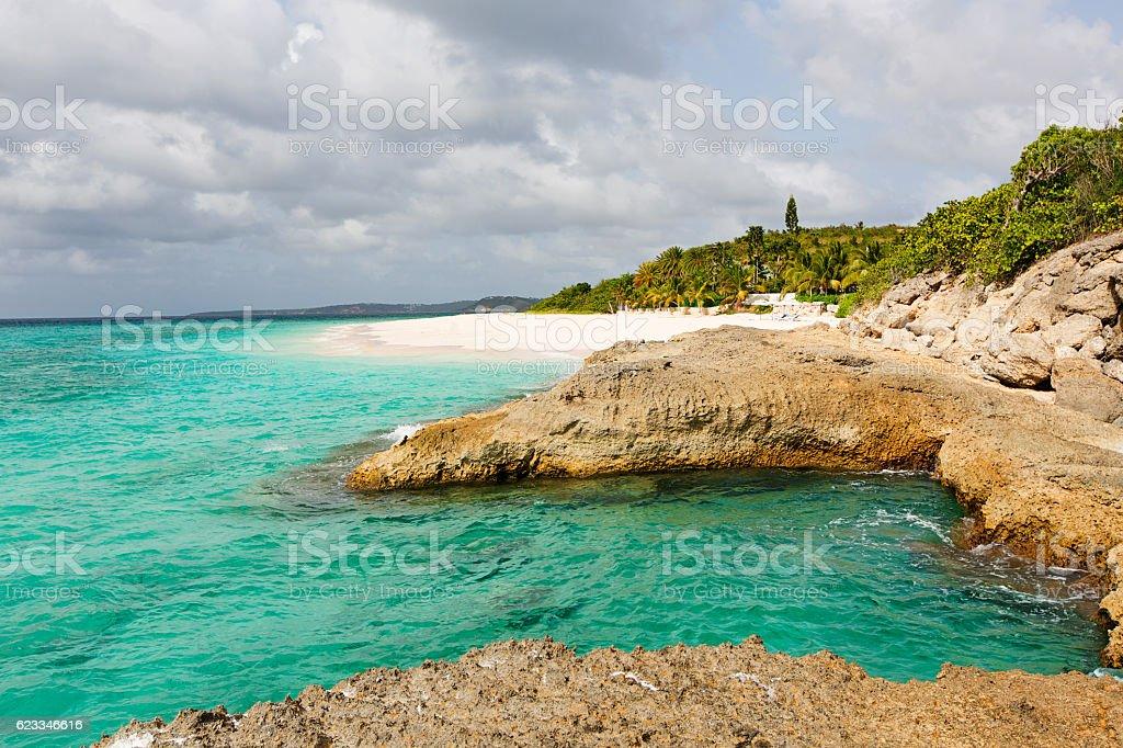 coastline at anguilla stock photo