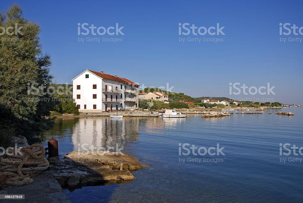 Coastline at island in Croatia stock photo