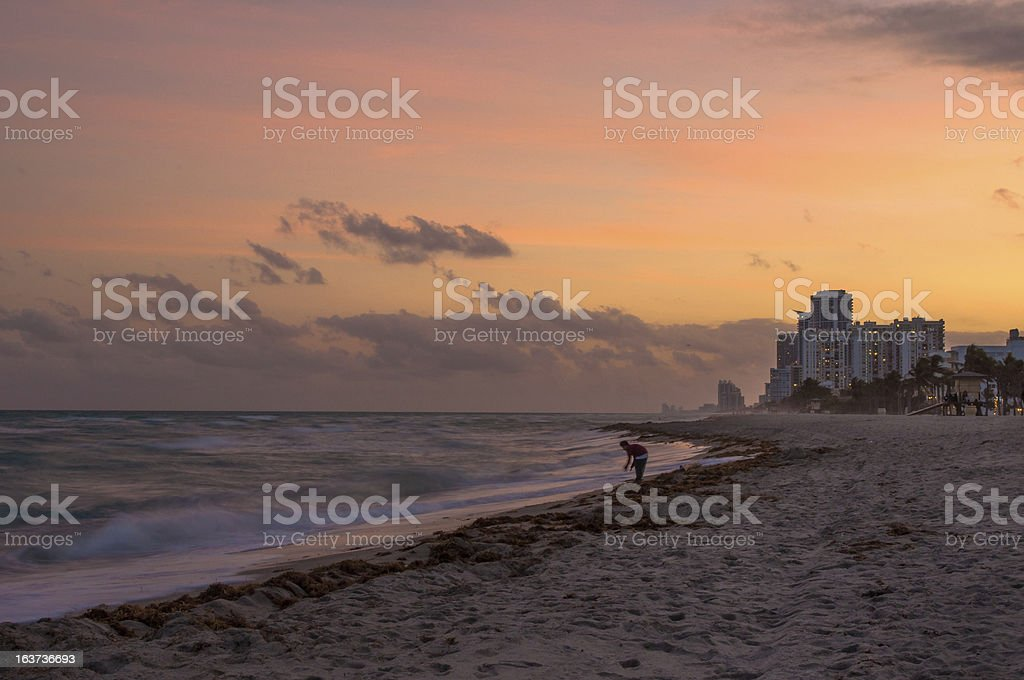Coastline at Sunset royalty-free stock photo