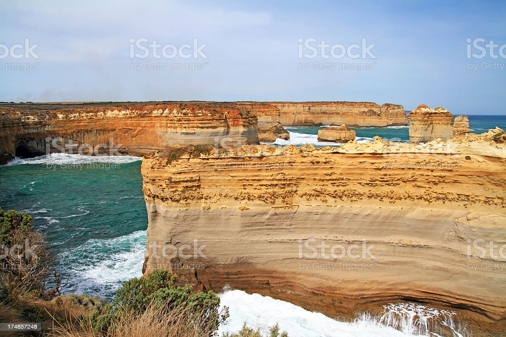 Coastline at the Twelve Apostles. Victoria. Australia royalty-free stock photo