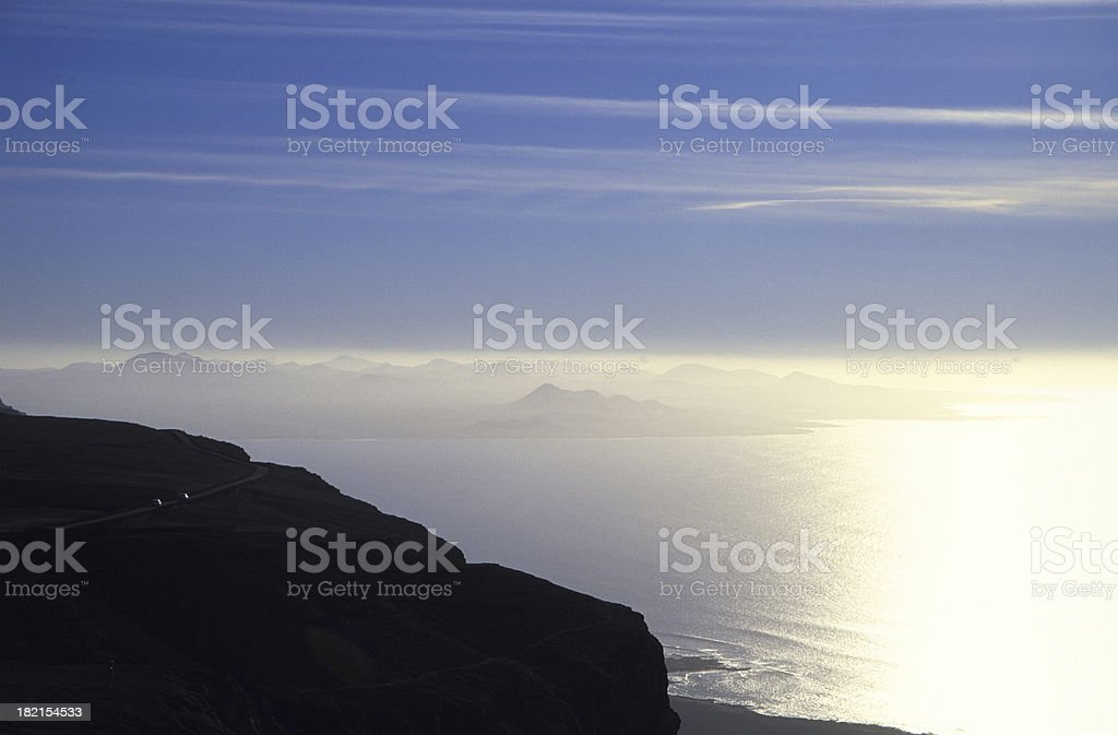 coastline from above royalty-free stock photo
