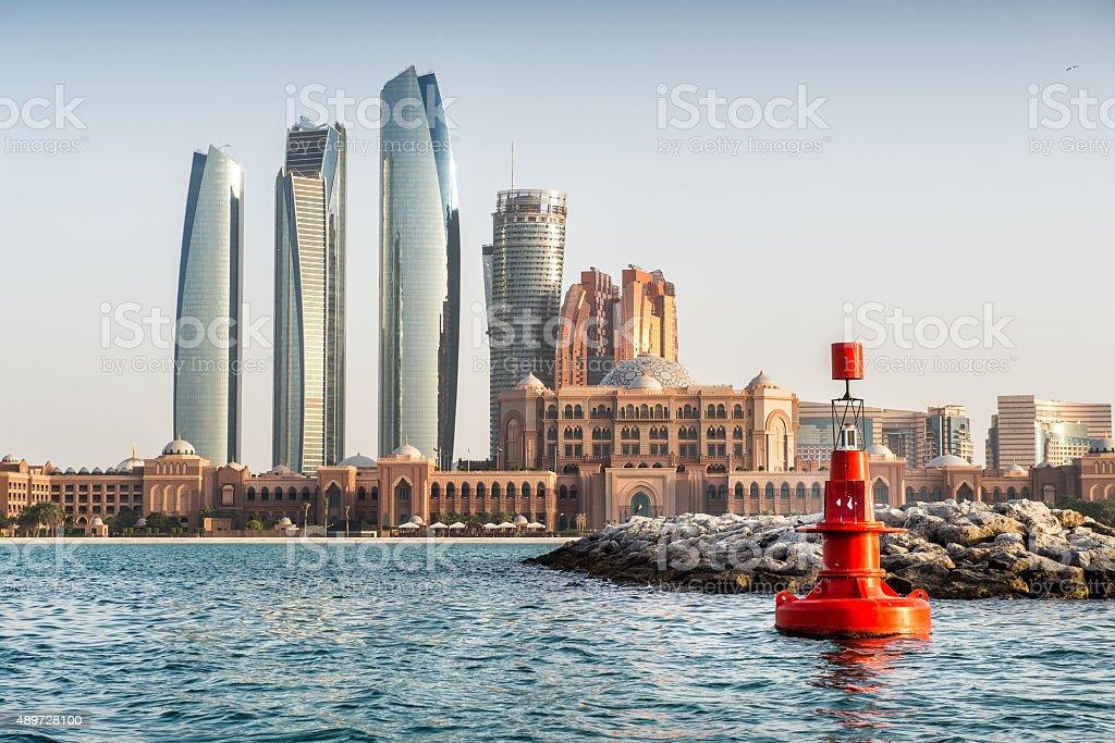 Coastline in Abu Dhabi stock photo