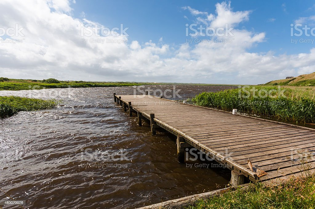 Coastline in Denmark. stock photo