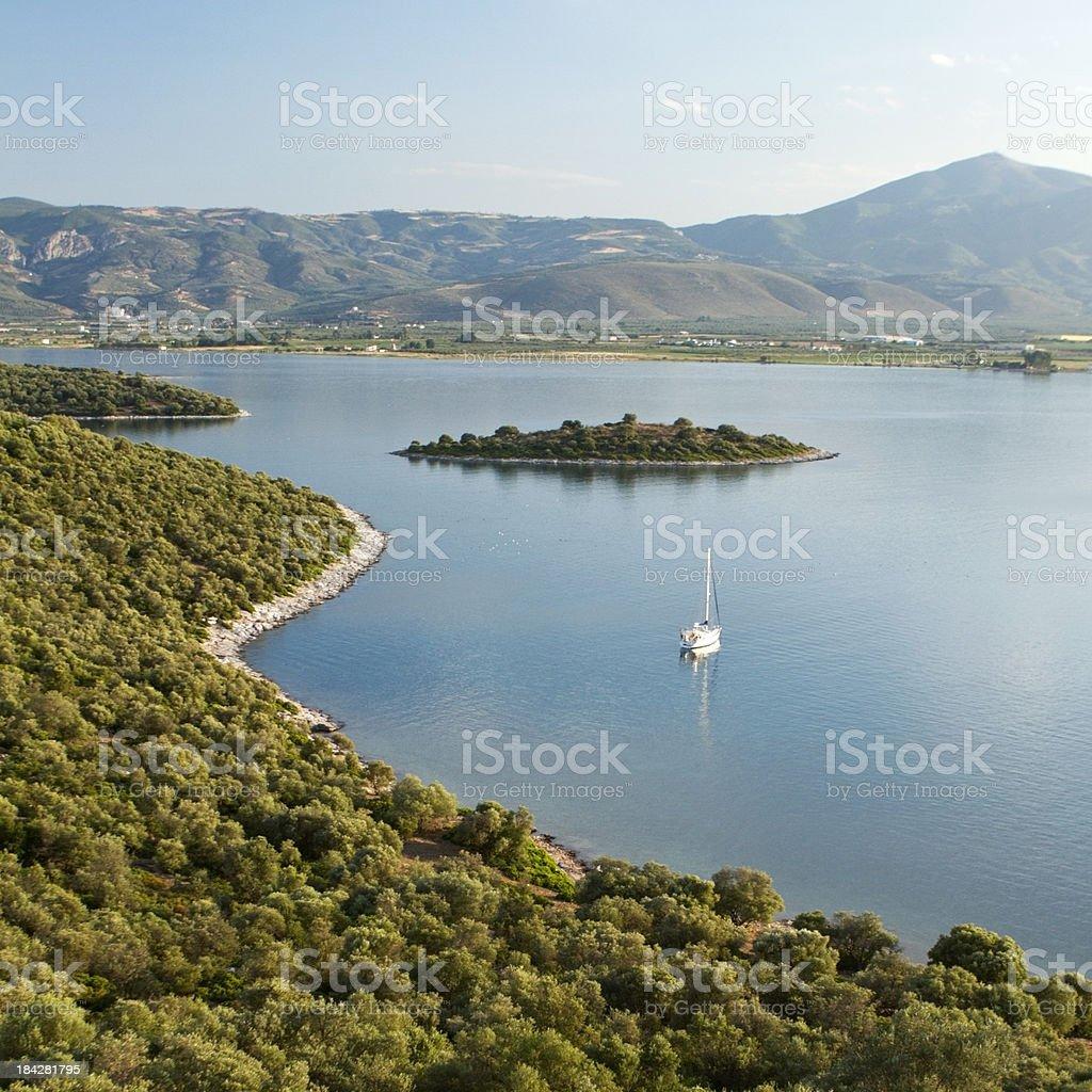 Coastline in Greece stock photo