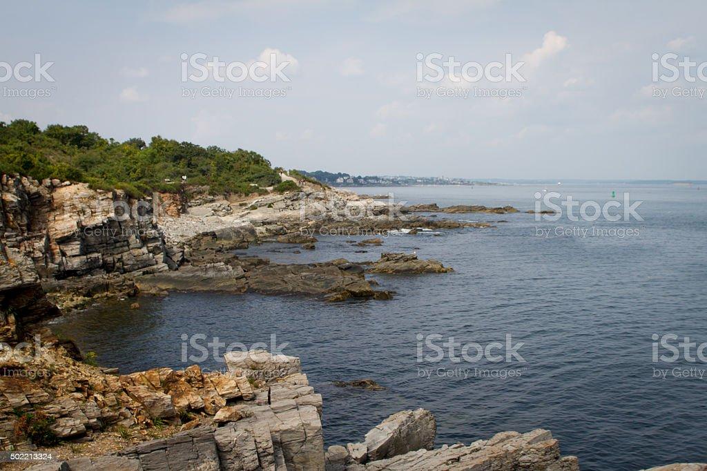 Coastline in Maine USA royalty-free stock photo