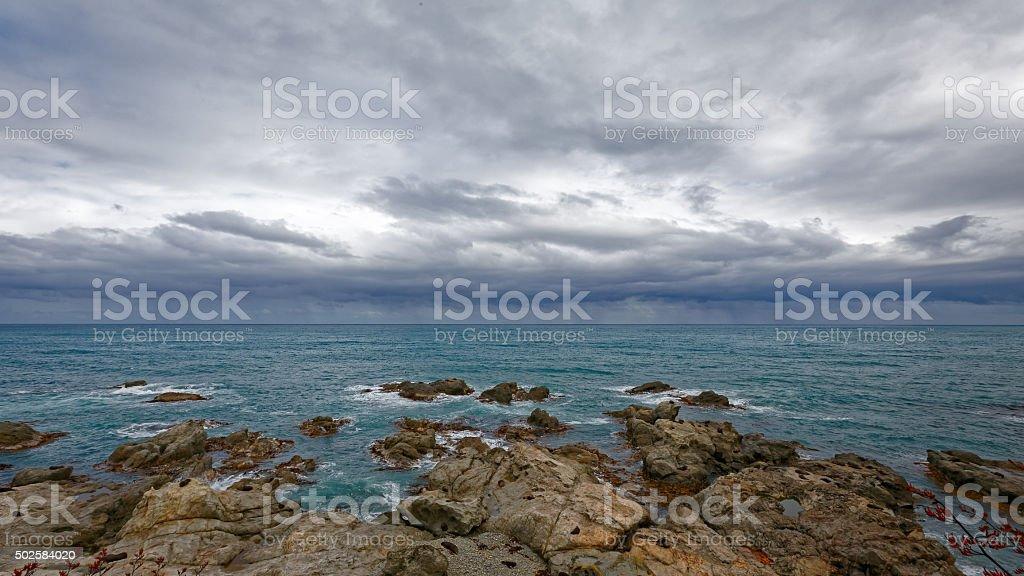 Coastline in New Zealand stock photo