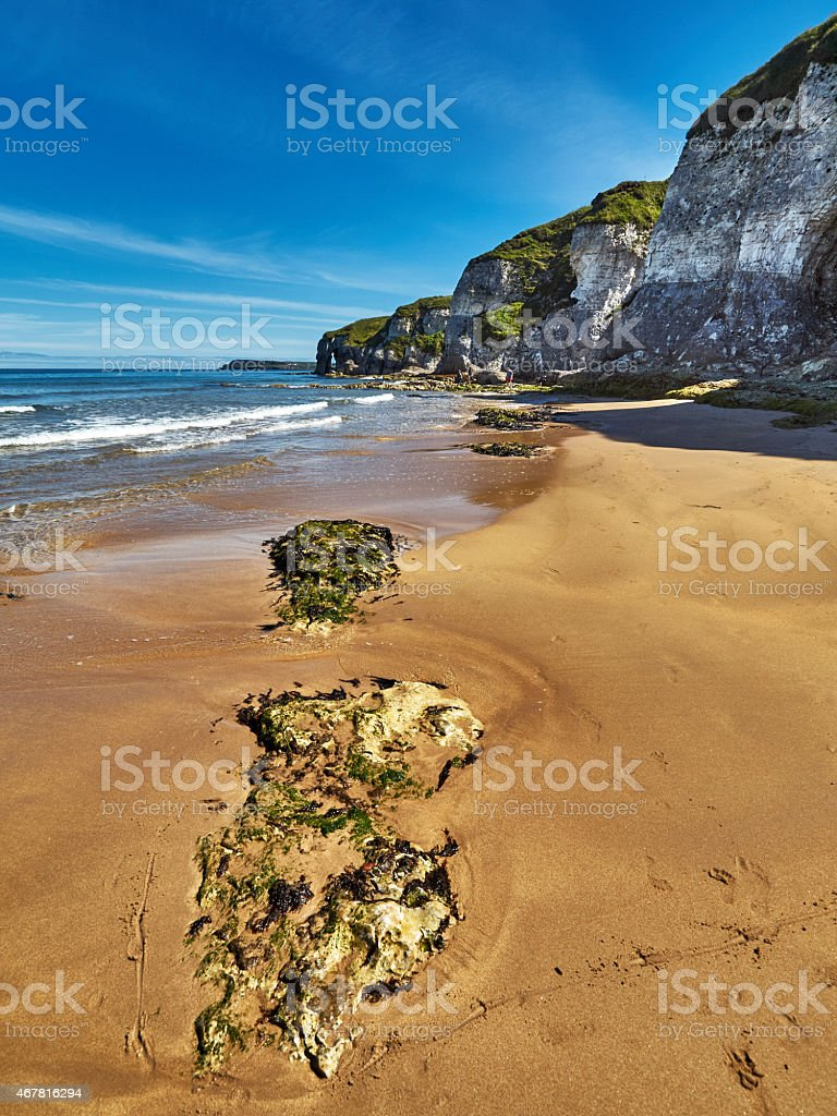 Coastline in Northern Ireland stock photo