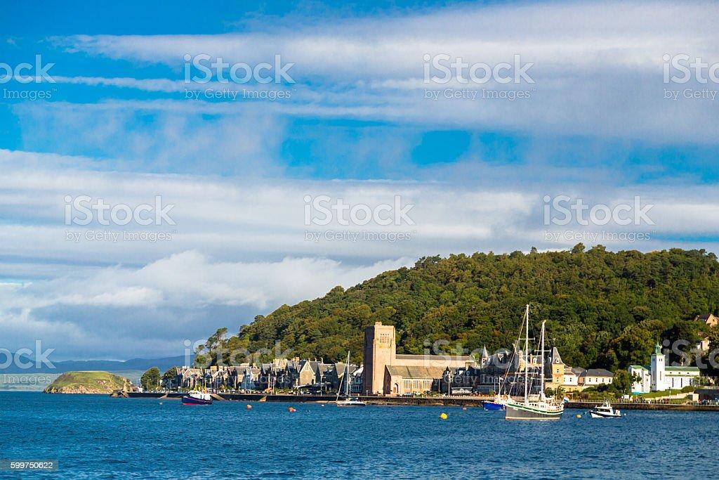 Coastline in Oban, Scotland stock photo