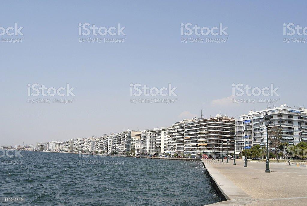 coastline in Thessaloniki royalty-free stock photo