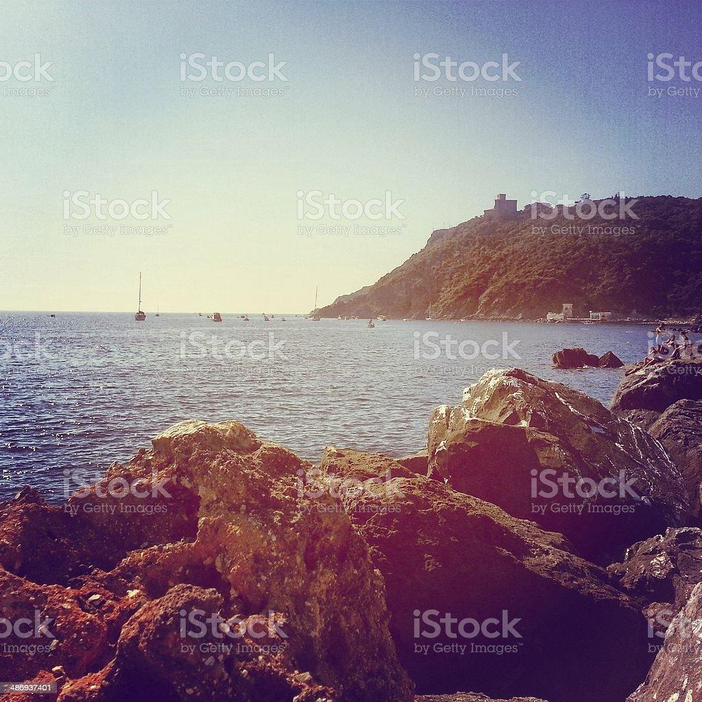 Coastline in Tuscany, Italy stock photo