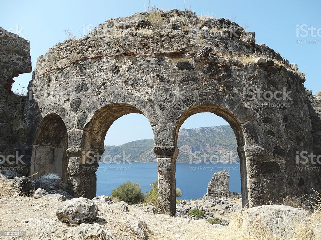 coastline landscape of mediterranean sea turkey royalty-free stock photo