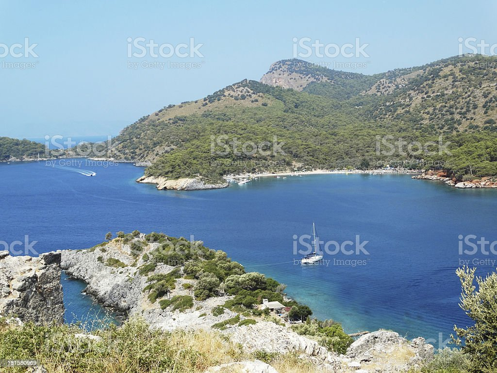 coastline landscape of mediterranean sea turkey royalty-free stock photo