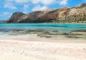coastline landscape of meditrannean sea Crete island greece