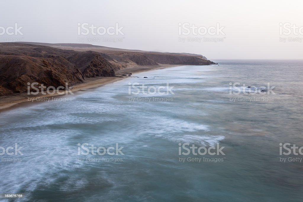 Coastline Long Exposure royalty-free stock photo