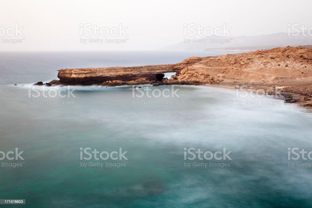 Coastline Long Exposure stock photo