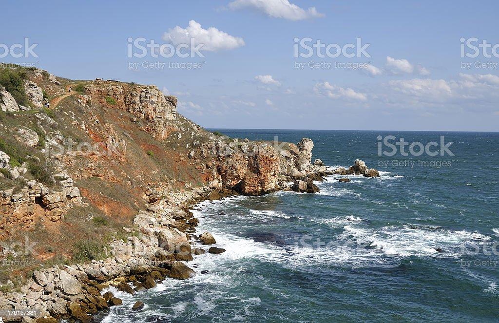 Coastline near Kamen Bryag at Black sea, Bulgaria stock photo