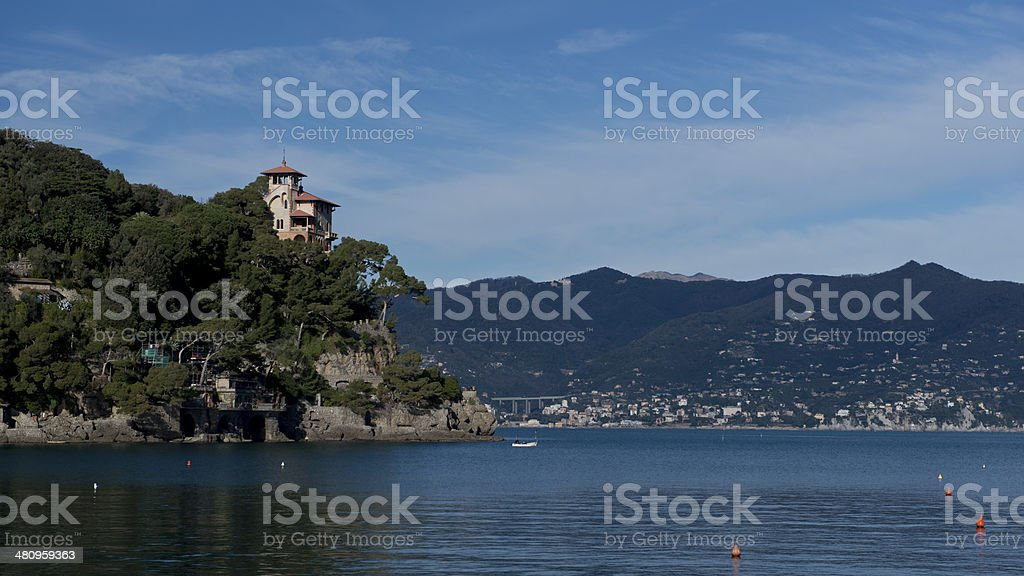 Coastline near Portofino stock photo