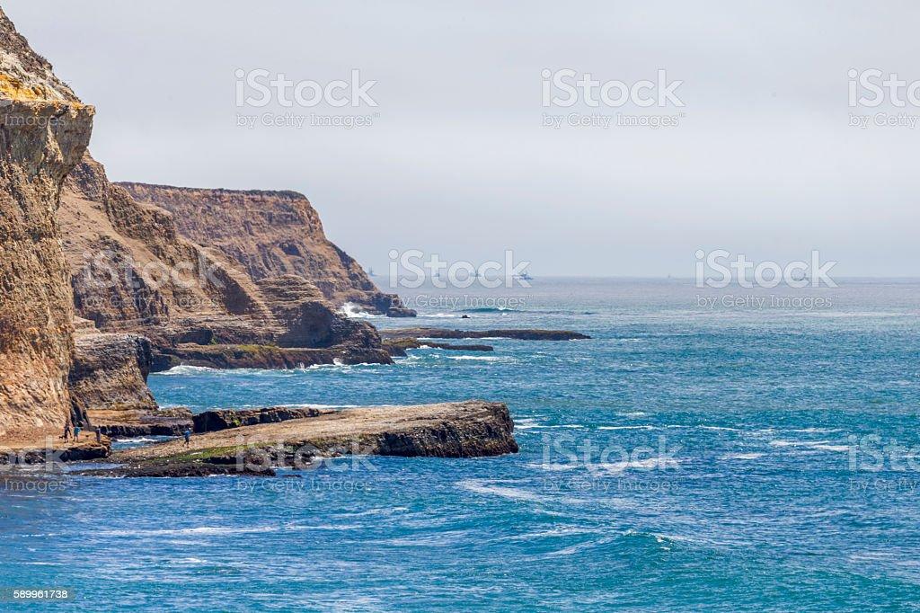 Coastline near Santa Cruz, Califonia stock photo