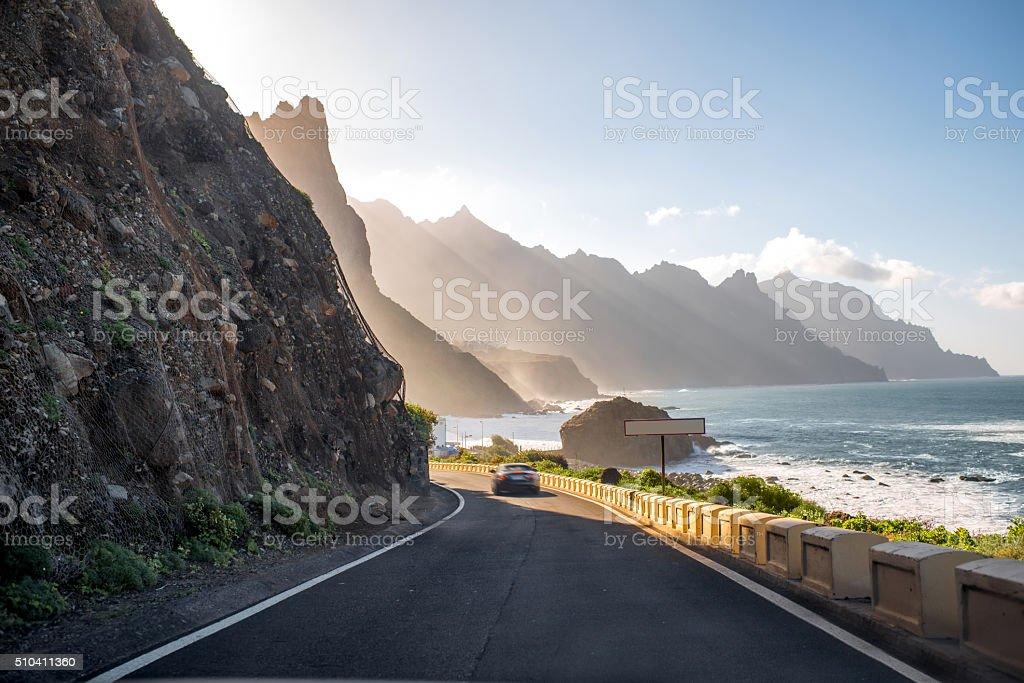 Coastline near Tagana village on Tenerife island stock photo