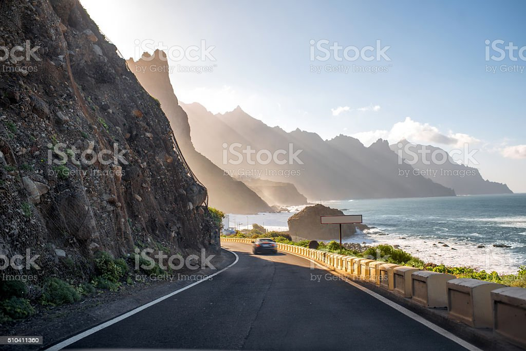Coastline near Tagana village on Tenerife island stock photo