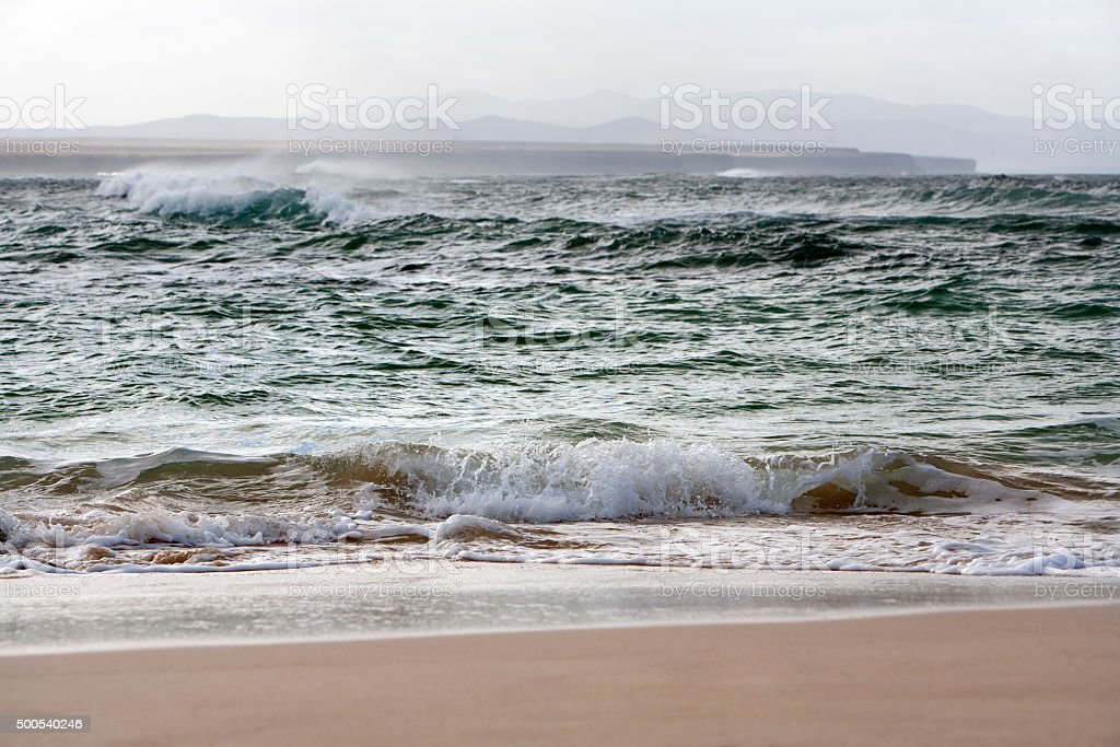 Coastline of a bay stock photo