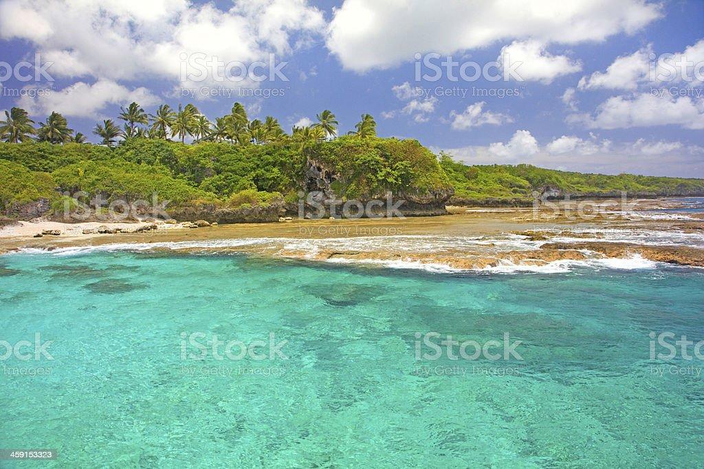 Coastline of Alofi, Niue, South Pacific Island. stock photo