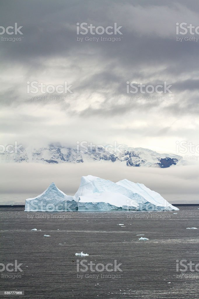 Coastline of Antarctica - Global Warming - Ice Formations stock photo