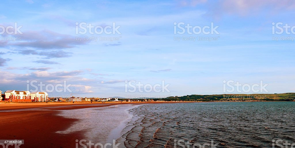 Coastline of Ayr stock photo