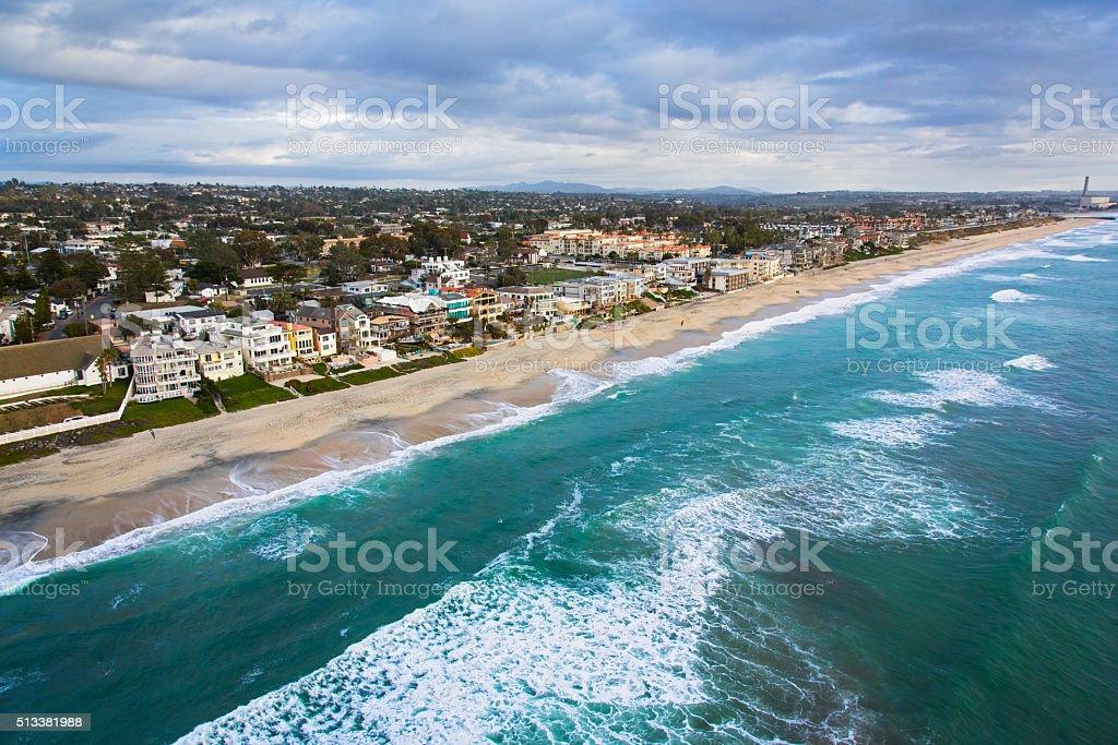 Coastline of Carlsbad California - San Diego stock photo