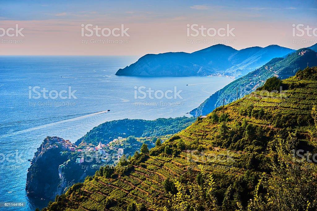 Coastline of Cinque Terre stock photo