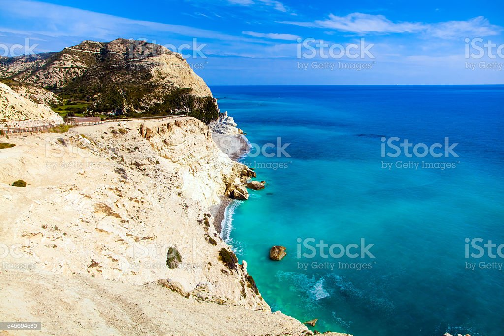 Coastline of Cyprus stock photo
