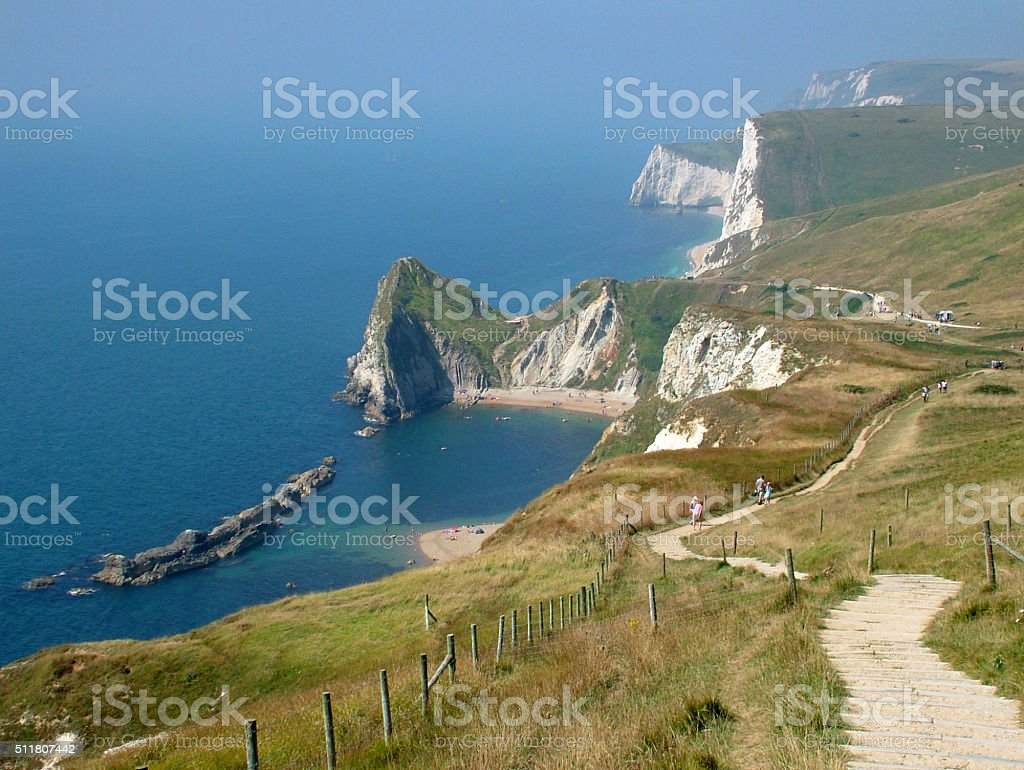 Coastline of Dorset stock photo