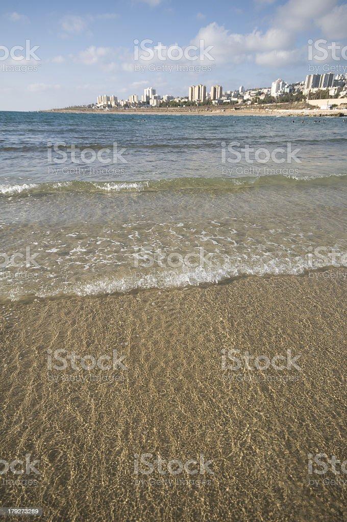 coastline of Haifa, israel stock photo