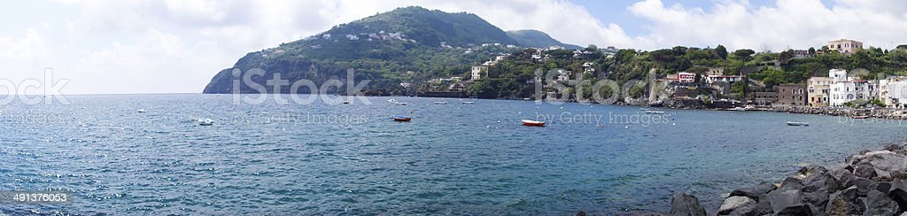 Coastline of Ischia Island stock photo