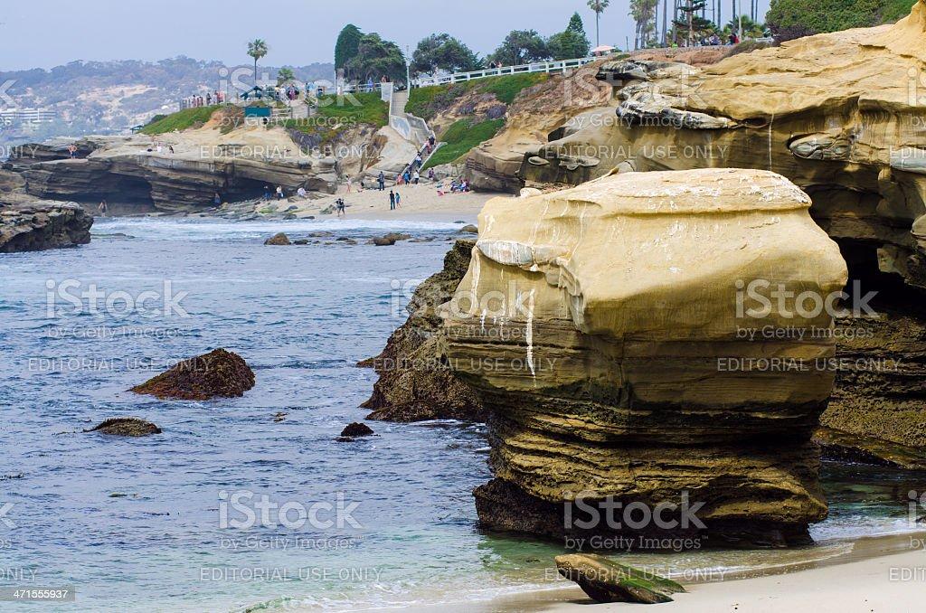 Coastline of La Jolla in San Diego, CA royalty-free stock photo