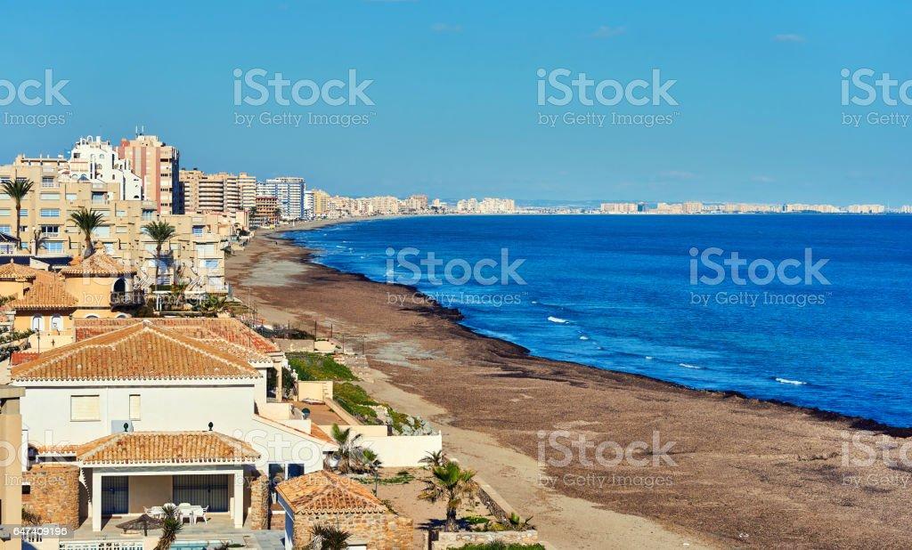 Coastline of La Manga. Spain stock photo