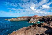 Coastline of Los Hervideros Lanzarote