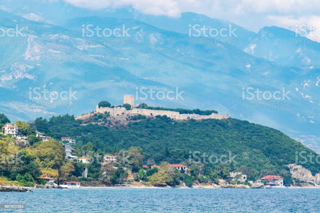 Coastline of Platamonas. Macedonia, Greece stock photo