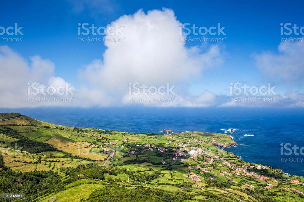 Coastline of Ponta Delgada das Flores - Azores stock photo
