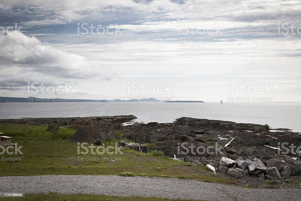 Coastline of Quebec royalty-free stock photo