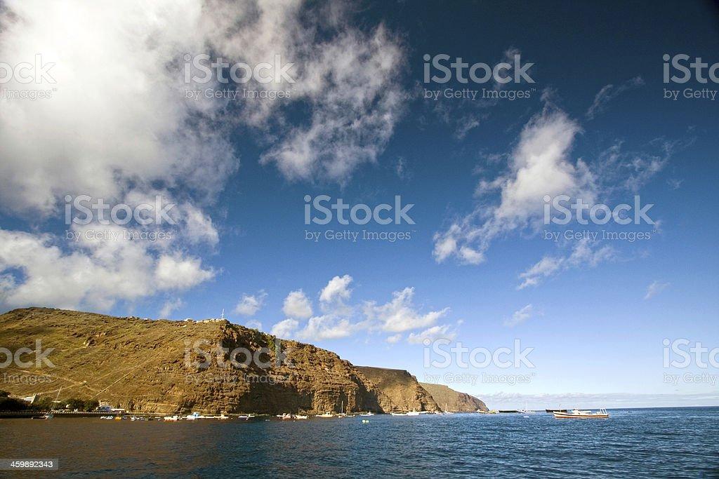 Coastline of St Helena stock photo