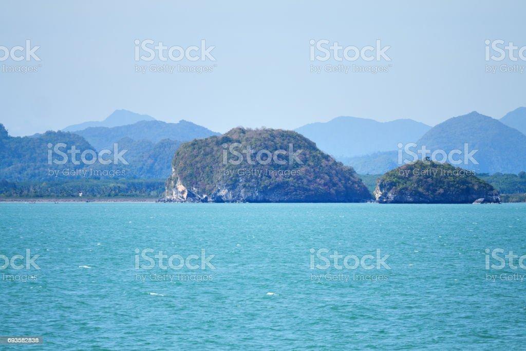 Coastline of Surat Thani stock photo