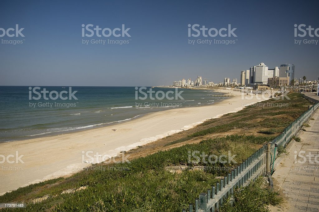 Coastline of Tel Aviv royalty-free stock photo