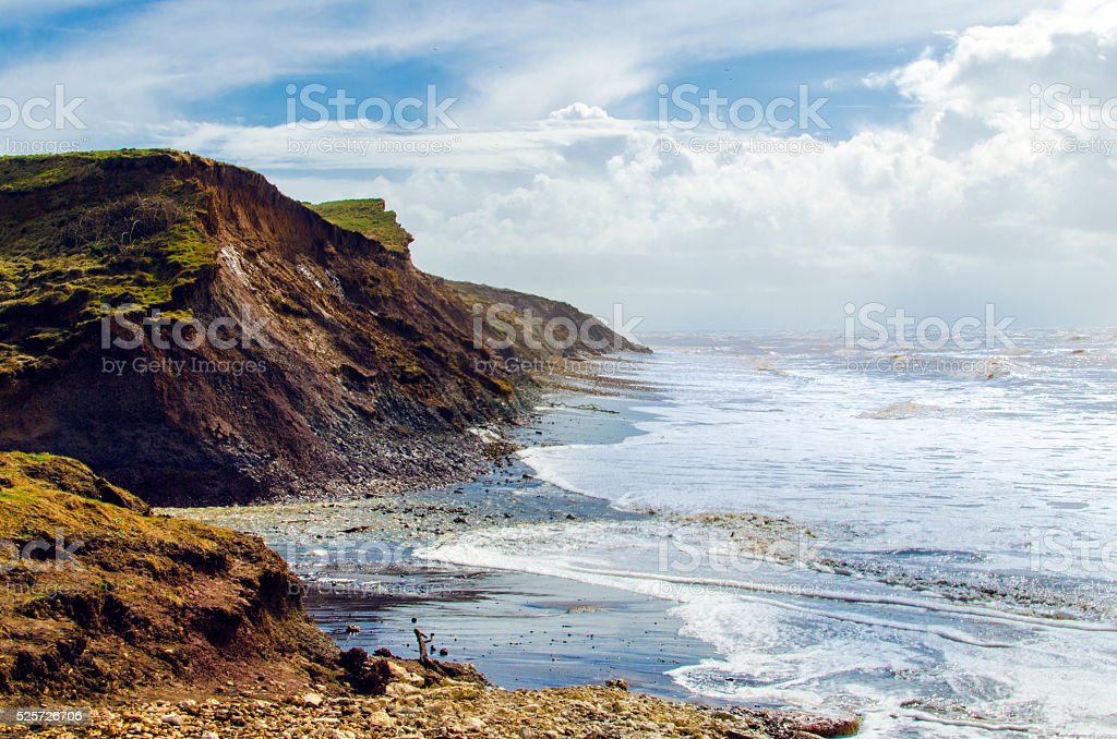 Coastline of the Isle of Wight in England, UK stock photo