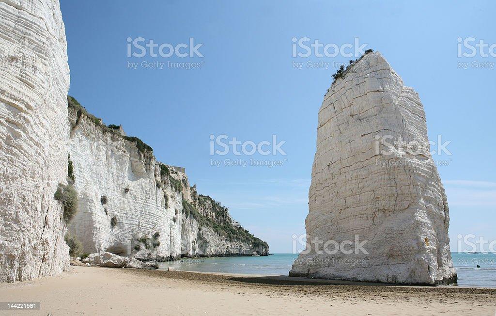 coastline of Vieste stock photo