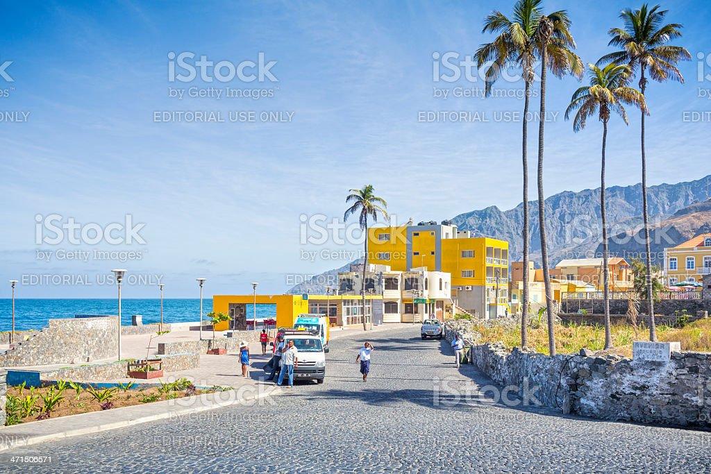 Coastline of Vila das Pombas - Santo Antao , Cape Verde stock photo