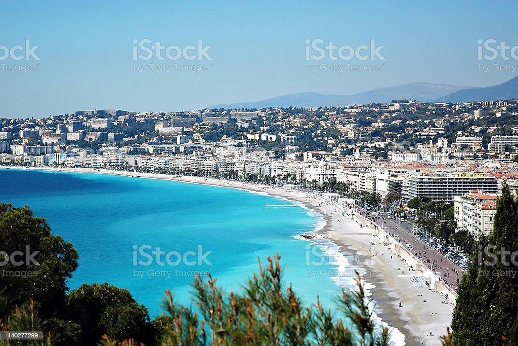 Coastline off Nice, France royalty-free stock photo