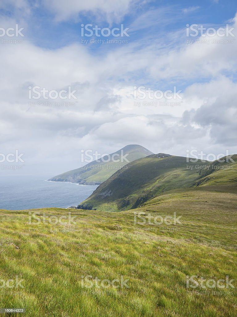 Coastline on Achill Island, Ireland stock photo