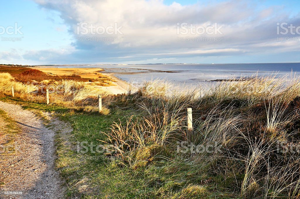 Coastline on the island of Sylt stock photo