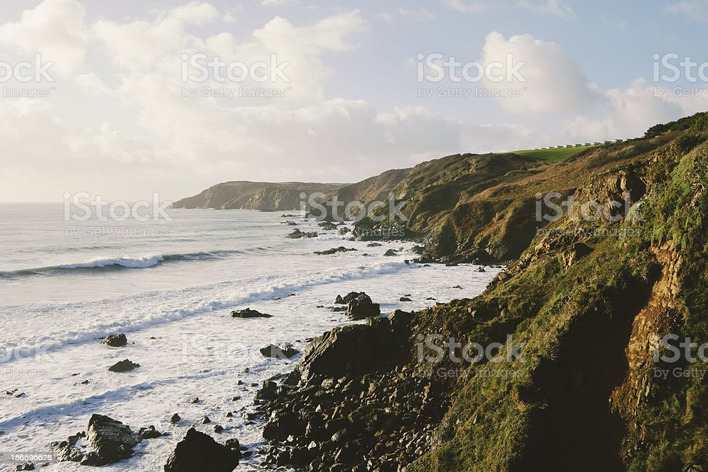 Coastline on the Lizard peninsular in Cornwall royalty-free stock photo